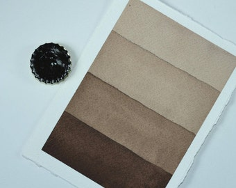 Full Pan or Large Cap - Bark Dark Umber, Anthesis Arts Artisanal Handcrafted Handmade Watercolor Paints, Choose Your Size