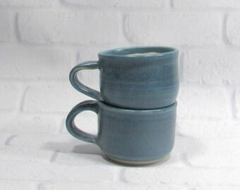 Tea cup Set - coffee cup set - espresso cups - cortado cups - machiatto cups - ceramic teacups - pottery coffee cups - set of two cups