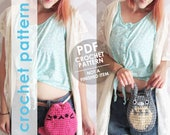 crochet pattern, crochet bag pattern, belt bag, bum bag, waist bag, hip bag, totoro, cat, festival bag, cat ears, cat purse, phone purse