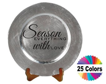 Charger Plate Decal Home Decor Kitchen Season Everything With Love Quote Quotation Wall DIY Choose From 25 Colors