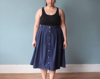 plus size skirt | vintage plus size midi skirt | 1990s XXL