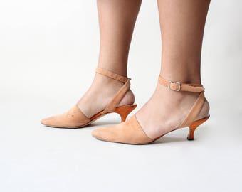 vintage manolo blahnik kitten heels, size US 7 | EU 37