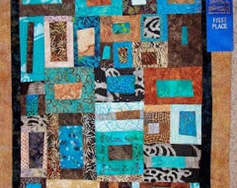 Show Me Your Ways O Lord, Teach Me Your Paths   Modern Art Wall Quilt   Psalm 25:4