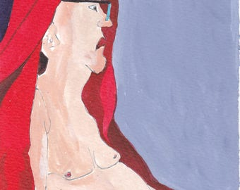 Homage to Jean-Auguste-Dominique Ingres, study of seated man of profile