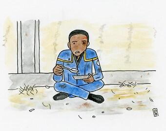 Detained - illustration inspired by Star Trek Enterprise