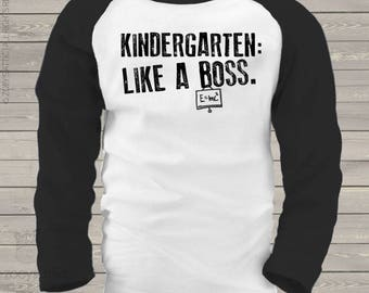 Back to school shirt - funny kindergarten or any grade like a boss school kids radlan shirt mscl-076-r