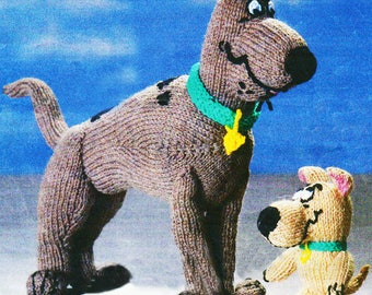 Scooby Doo and Scrappy Doo Knitting Pattern