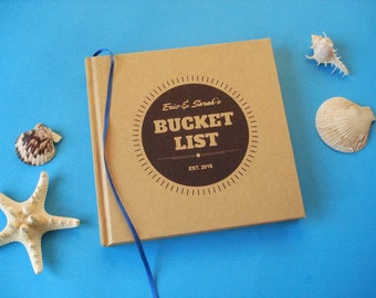 CUSTOM First Anniversary Gift Journal · Our Bucket List· Paper Anniversary Gift· Bucket List Travel Journal· Our Wedding Anniversary Journal