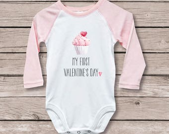 First Valentine's Day Shirt for Baby, Valentine's Day Shirt, My First Valentine's Day Shirt , Valentine's Day Shirt, Girl, First Valentine