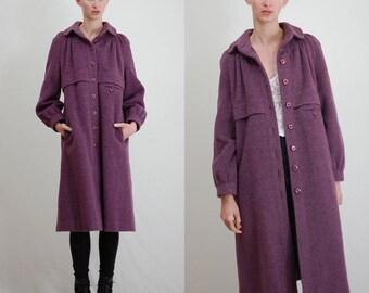 Vintage Coat / Wool Coat / Vintage 60s Coat / 60s Coat / Princess Coat / Winter Coat / Mod Coat / Modern Coat / Long Coat / Small Medium