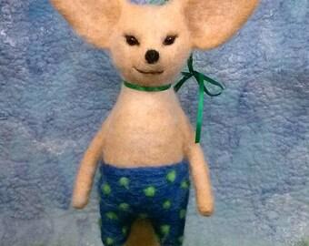 Needle-Felted Fennec Fox Bathing Beauty