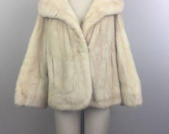 Vintage 60s Blonde MINK Fur Coat Jacket M