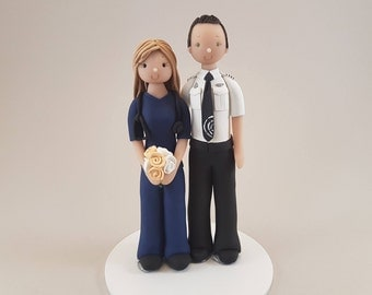 Nurse & Pilot Customized Wedding Cake Topper