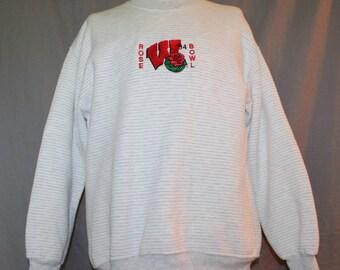 Vintage UW of Wisconsin Sweatshirt, 1994 Rose Bowl by Jerzees