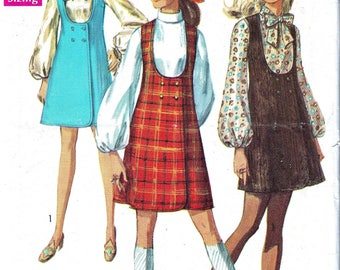 1960s Vintage Sewing Pattern Ladies Jumper Blouse Pattern DIY Hipster Fashion Pattern Double Breasted Jumper Simplicity 8345 Bust 38 Uncut