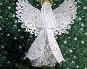 Lace and Organza Angel Tree Topper