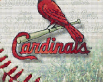 MLB St Louis Cardinals Baseball Counted Cross Stitch Pattern