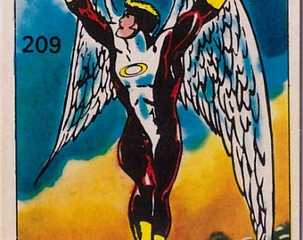 Rare 1980 Marvel Super Heroes Archangel 209 Sticker
