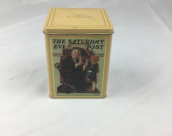 Vintage Daher tin box collectors series by Norman Rockwell England