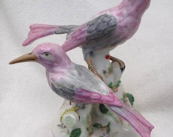 Antique French Porcelaine de Paris Porcelain Song Bird Sculpture