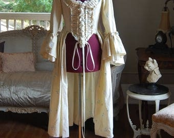 Country flower peasant Summer garden Antoinette Victorian inspired rococo costume top bodice
