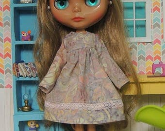 Pastel Batik Dress for Blythe