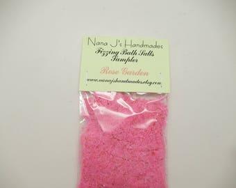 Rose Garden Fairy Dust,Fizzing Bath Salts,Bath Salts,Bath Bomb,Fizzy Powder,Fizzing Salts, Fizzing Bath Salts Sampler, Fairy Dust