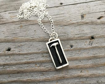 Sterling Silver Hammer Necklace Wild Prairie Silver Jewelry