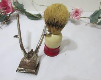 Saving Brush Hair Clipper Set Vintage Barber Shop Decor