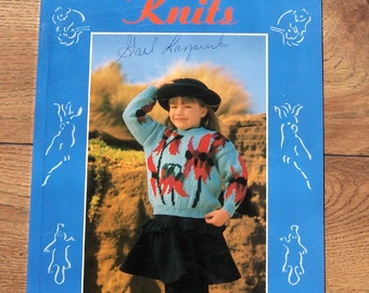 vintage 1991 knitting patterns Australia children Little Aussie Knits