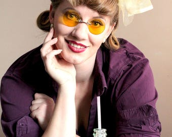 Yellow Sunglasses , Steampunk Glasses , Round Sunglasses , Gold Glasses , Gothic Sunglasses , Mens Sunglasses