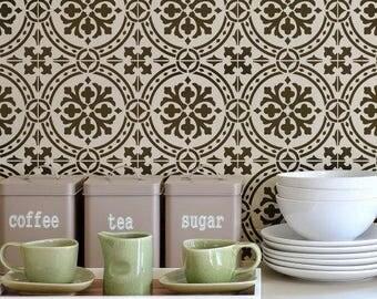 Calista Tile Stencil - Easy Way to Improve Wall Decor - DIY Wall Art - Reusable Stencils for Home Makeover