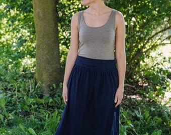 Womens Jersey Knit Cotton Maxi Skirt - Made to Order -Handmade in the USA - Mason Maxi