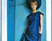 Sale:) Pierre Cardin Designer * Vogue  Paris Original  Pattern 1508 -  Misses' Cocktail Evening  Dress has Side Wrap Effect  -  Size 14 or 1