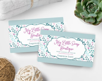 Soap Labels - Floral Soap Labels - Soap Packaging - Soap Wrapper - Cosmetic Labels -  Printable Label Design - Product Labels - SW-6