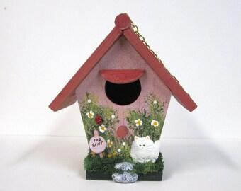 Fat Kitty Mini Birdhouse