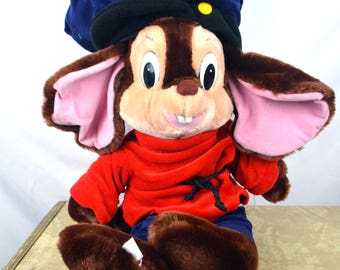 Vintage 1980s American Tail Fievel Stuffed Animal Mouse Toy