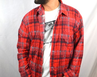 Vintage Plaid Grunge Flannel Shirt - Le Tigre