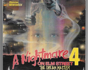 Nightmare on Elm Street 4 The Dream Master 1988 VHS blank drawing pad / Freddy Krueger 80's horror slasher movie notebook.