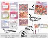Printable Journal Pockets & Index Cards - Junk Journal kit for Traveler's Notebooks, Bible Journaling, Faith Art Journals and Scrapbooking