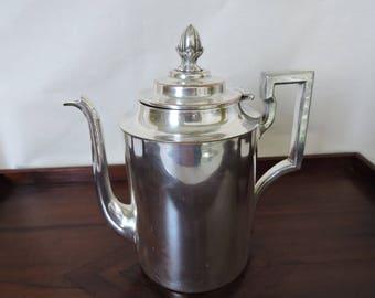 Vintage Art Deco Silver Plate Coffee/Tea Pot