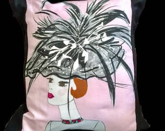 Vintage Fashion Illustration PILLOW