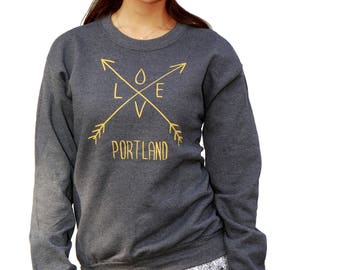 Love Portland | Arrows | Classic Unisex Sweatshirt