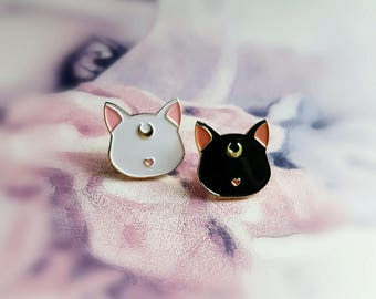 HALF PRICE Factory Seconds Sailor Moon Cat set - Soft Enamel pin set