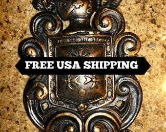Shield Wall Plaque - FREE USA SHIPPING - Decor Medieval / Old World Style Decor with Knight's helmet and crosses