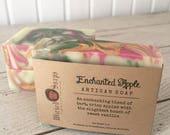 Enchanted Apple Artisan Soap - Handmade Soap, Shea Butter Soap, Silk Soap