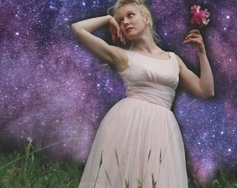 50s Prom / Party / 1950s /Dress / Pin Up / Pale Pink / Dream Girl / Bridesmaids / Romantic / Astral Boutique