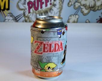 Zelda Can/Bottle Cozy/Home Decor/ Housewarming Gift/ Kitchen Decor/ Hostess Gift/ Wedding Gift/ Gift for her/ Fun gift/ Boyfriend gift