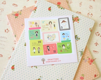 Okaytina 7321 Lovely Ver 2 Cartoon Stamp stickers