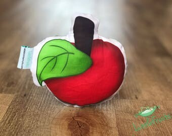 Baby Christmas Gift - Organic Baby Rattle RED APPLE - Fruit Baby Toy - Stocking Stuffer - Gift for Baby Boy, Baby Girl - Expecting Mommy